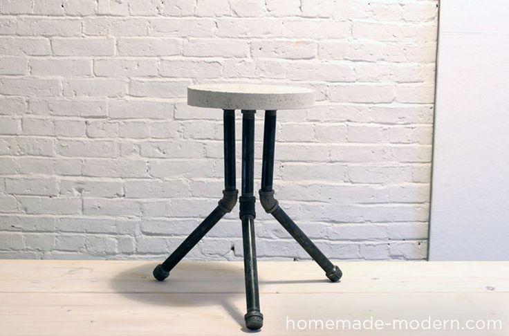 plumbing pipe stool | ... bucket stool in episode 8 good luck making your cake pan stool and