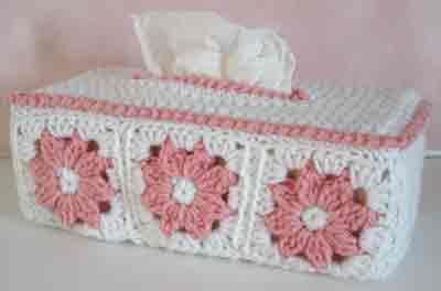 Maggie's Crochet · Floral Tissue Box Cover Free Pattern