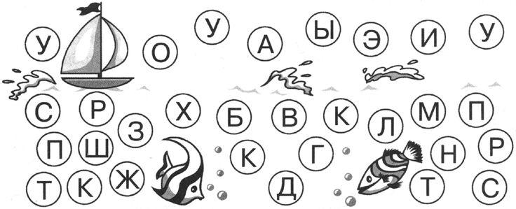 рисунок звуко-буквенный анализ