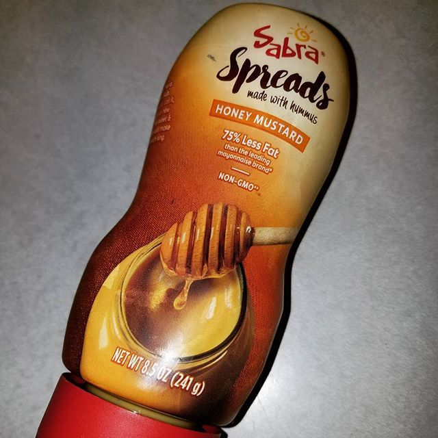 This is the honey mustard version! On sale at #GiantFood stores  #Sabra #Spreads made with #hummus. Also visit: hordaholic.blogspot.com for more tips and tricks