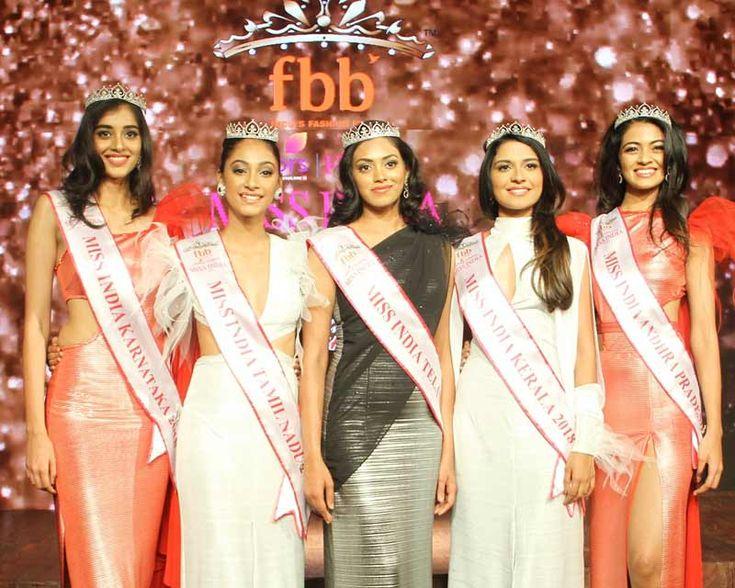 During the south zonal crowning ceremony, the adjudged titleholders were Shreya Kamavarapu -Femina Miss India Andhra Pradesh 2018, Mekhana Shajan - Femina Miss India Kerala 2018, Sai Kamakshi Bhaskarla - Femina Miss India Telangana 2018, Bhavana Durgam Reddy - Femina Miss India Karnataka 2018 and Anukreethy Vas - Miss India Tamil Nadu 2018. | Information | Contestants | Winners | Hall of Fame | News | Video Gallery | Photo Gallery | Angelopedia