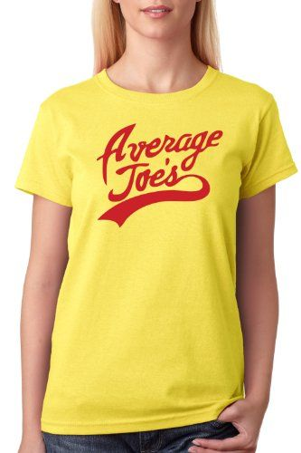 $17 AVERAGE JOES Ladies T-shirt / Dodgeball Movie Tribute Shirt