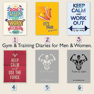 A training diary/gym #buddy/log #book/ weight log ##book/gym diary/workout/fitness,  View more on the LINK: http://www.zeppy.io/product/gb/2/131894111589/