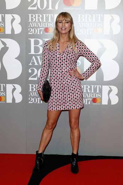 (EDITORIAL USE ONLY)  Sara Cox attends The BRIT Awards 2017 at The O2 Arena on February 22, 2017 in London, England.