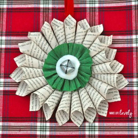 Paper medallion Christmas decoration 7