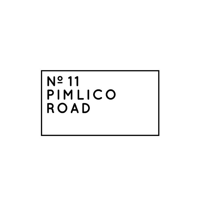 Ate here today. Very nice indeed. No.11 Pimlico Road logotype designed by BuroCreative.