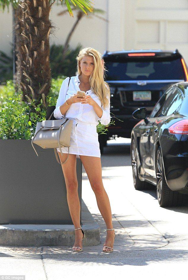 Charlotte Mckinney Shows Off Legs In Thigh High Shirt Mini Dress Just Beautiful Pinterest And Dresses