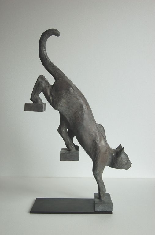 Cat Sculpture by Bernard Vié #stairs