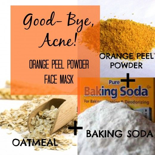 Time to say goodbye to acne and pimples. Mix orange peel powder with oatmeal and baking soda to make the ultimate pimple annihilation  face mask.