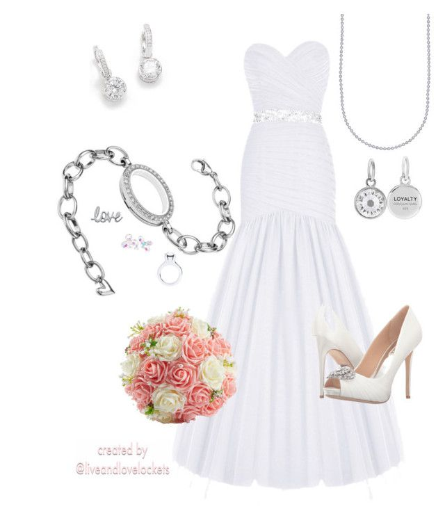 """""""Origami Owl wedding bridal accessories"""" by liveandlovelockets on Polyvore featuring Badgley Mischka"""