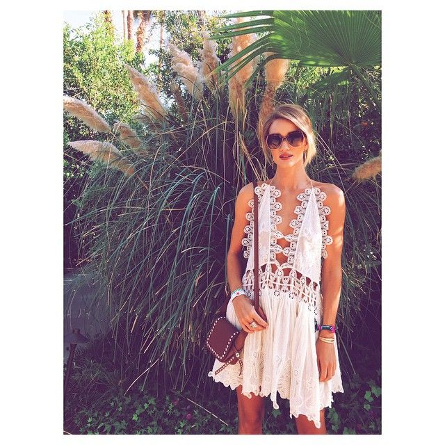 Crochet Coachella <3 Rosie HW + this dress = everything!