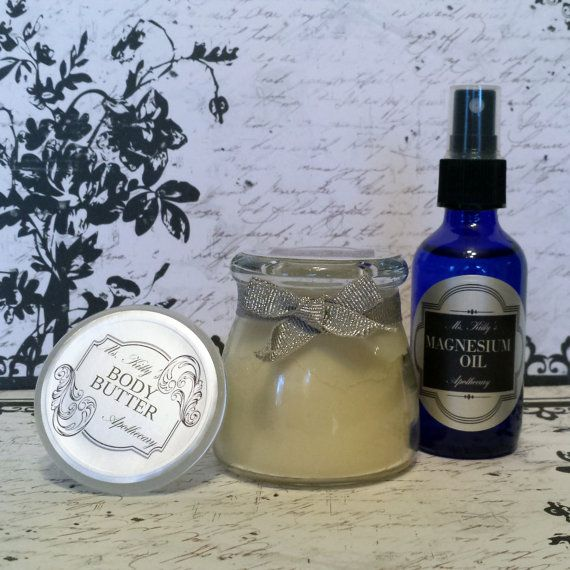 Body Butter  Whipped Body Butter & Magnesium by KittyApothecary