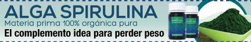 Banner para www.alimentacion-sana.org. Spirulina en cápsulas: http://alimentacion-sana.net/alga-spirulina