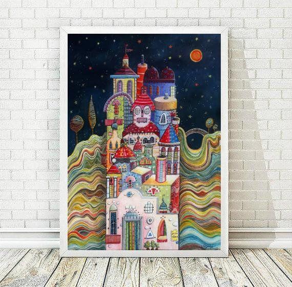 City Prints, Living Room Art, Nursery Printable Art, Wall Art Print, Printable Wall Art, Decor Home, Printable Poster,  INSTANT DOWNLOAD