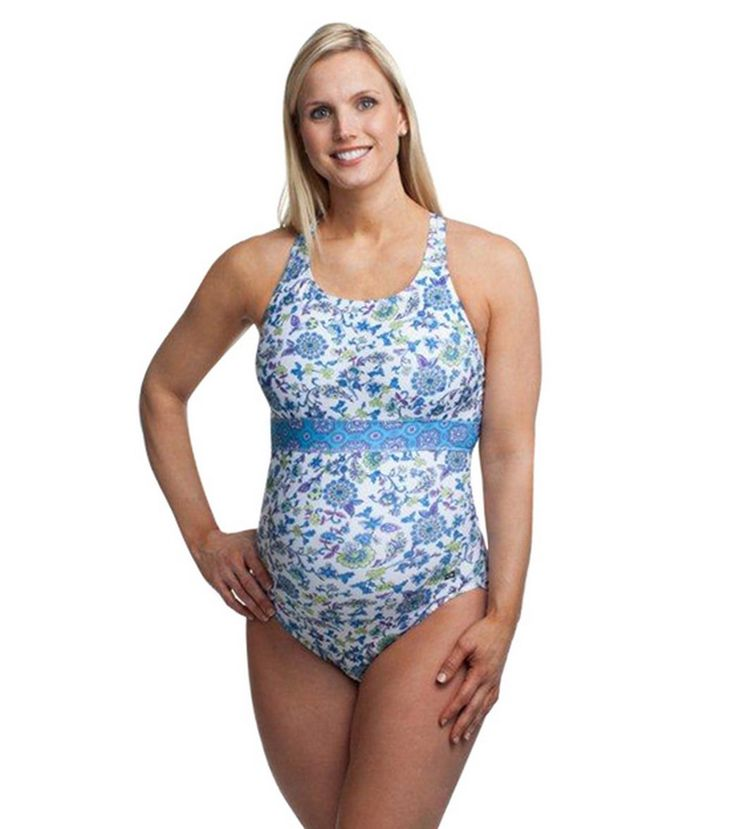 EQ Swimwear Versaille Banded Maternity One Piece at SwimOutlet.com - The Web's most popular swim shop