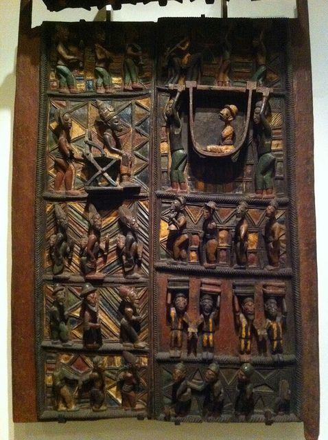 Olowe Of Ise Doors From The Shrine Of The King\\u0027s Head In The Royal Palace Ikere Yoruba Nigeria 1910-1914 | Shut The Front Door | Pinterest & Door Kings \u0026 Pezcame.Com