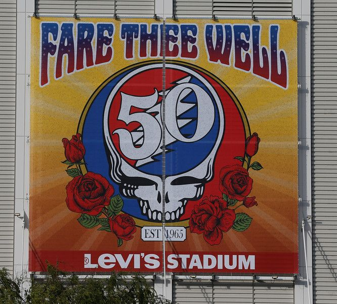 A banner notes the Grateful Dead concert at Levi's Stadium in Santa Clara, Calif., on Saturday, June 27, 2015. (Jim Gensheimer/Bay Area News Group)