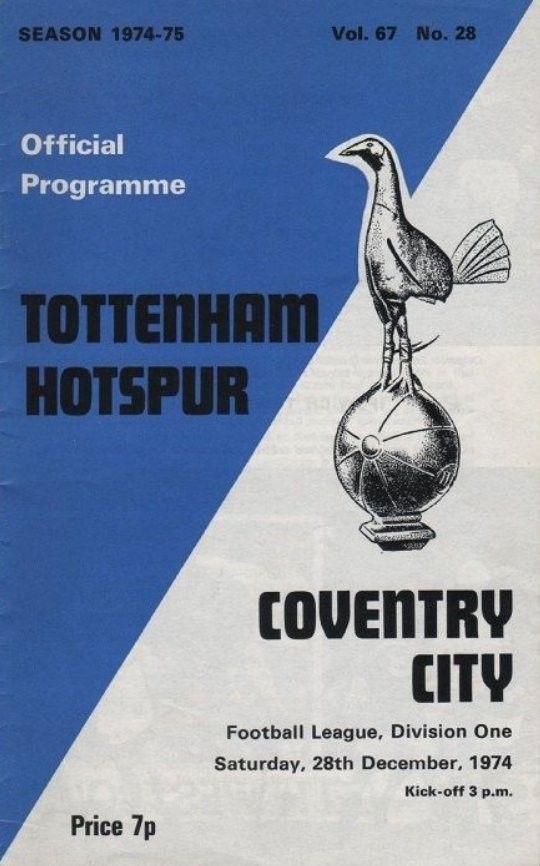 Spurs v Coventry 1974