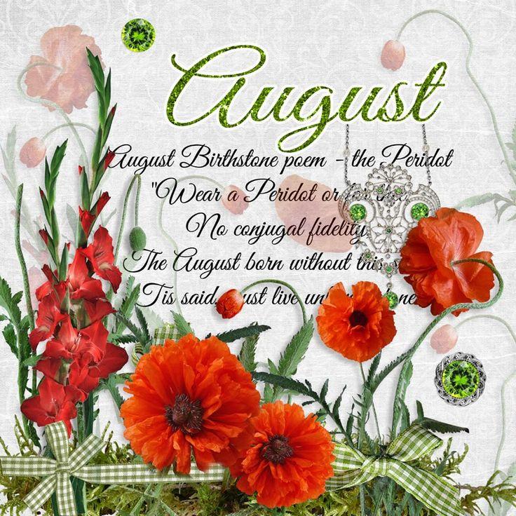 cheyOkota digital scraps August Birthday Poppies