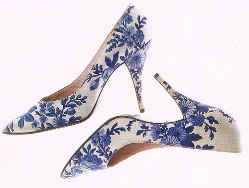 """Roger Vivier / Christian Dior  """"Versaille"""" Pumps  Spring/Summer 1960  From the book Fashion: The Collection of the Kyoto Costume Institute - A History from the 18th to the 20th Century by Akiko Fukai"""