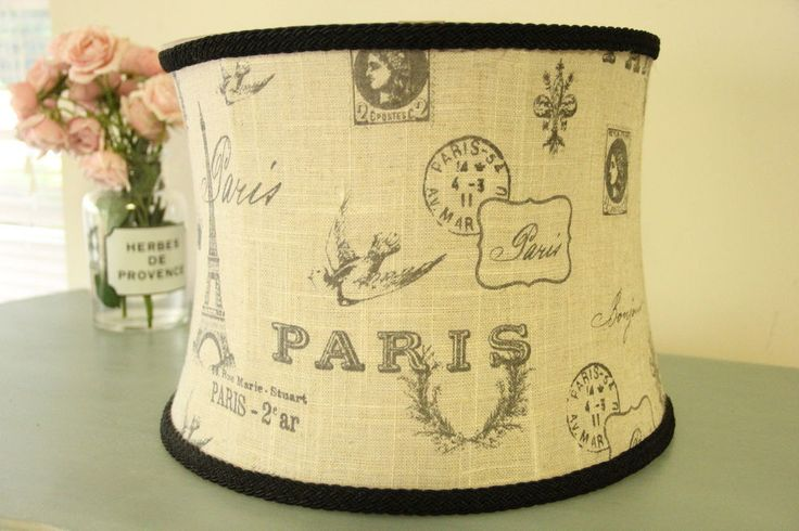 illumination station burlap paris lamp shade french