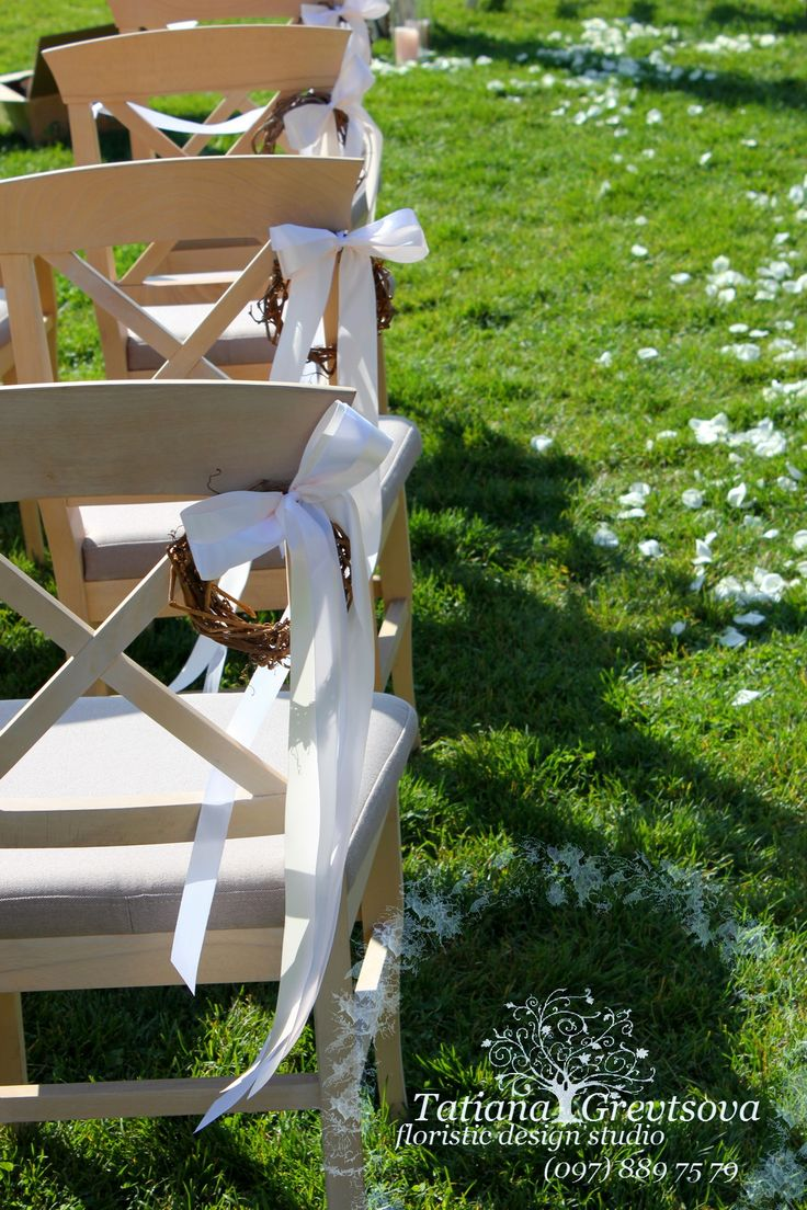 Декор стульев. Флорист -дизайнер Татьяна Гревцова