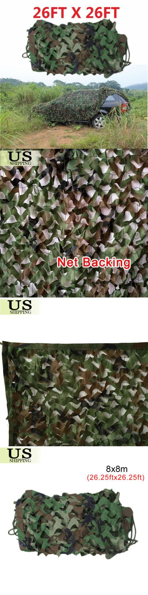 Tent and Canopy Accessories 36120: 26 X 26Ft Woodland Military Hide Army Camouflage Net Hunting Camo Netting 8X8m -> BUY IT NOW ONLY: $125.98 on eBay!