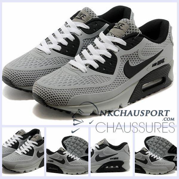 online store 372b4 b4dfb nike air max tailwind 4 grey  Nike Air Max 90 2016   Meilleur Chaussures  Running Homme Grise Noir