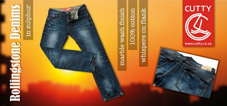 Rock it in Cutty's 100% cotton denim Rollingstone Denims in a sulphur colourway. Featur-ing a marble wash finish, these on-trend jeans have front and back whispers, branded trims and a leather back patch with metal ingot.