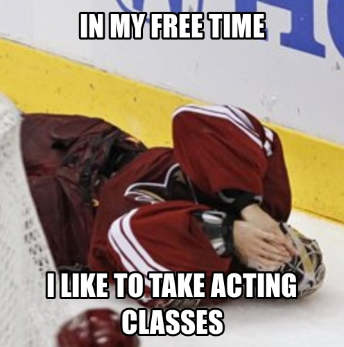 Mike Smith, the best actor in the NHL