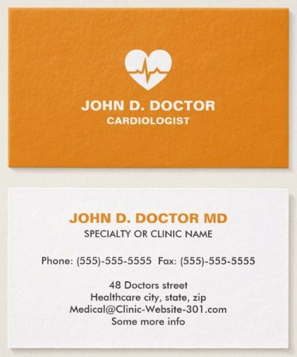 54 best Medical business cards images on Pinterest Business - business card template for doctors