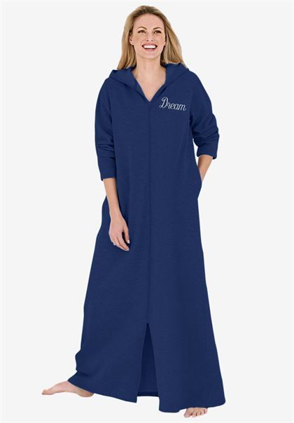 Personalized long ultrasoft hoodie robe by Dreams & Co.® | Plus Size Robes & Slippers | Roamans