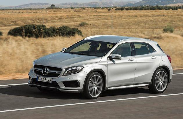 Mercedes-Benz yeni crossover modeli GLA 45 AMG'yi resmi olarak tanıttı.