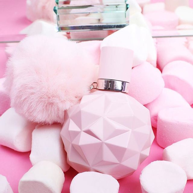 The color pink on this perfume bottle is just so gorgeous. It is the perfect shade of pink, plus that fuzzy ball on the end looks so cute! -Xoxo, Ari