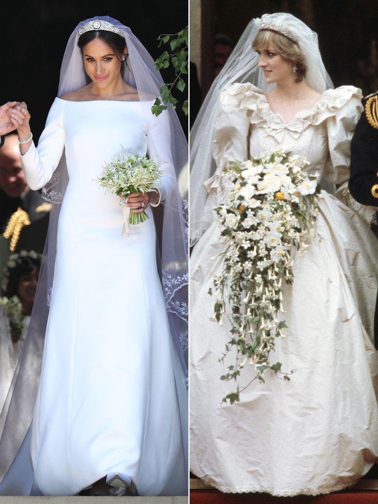 Princess Diana S Wedding Dress Designer Praises Meghan Markle S Elegant And Classic Gown Princess Diana Wedding Dress Megan Fox Wedding Dress Princess Diana Wedding