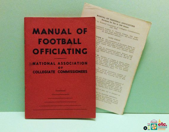 1948 Manual of Football Officiating Second Ed. #SportsRules #NCAA #Sports #Memorabilia