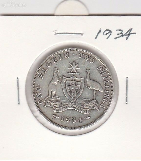 Florin  1934, KGV, good condition by jones101 - $25.00