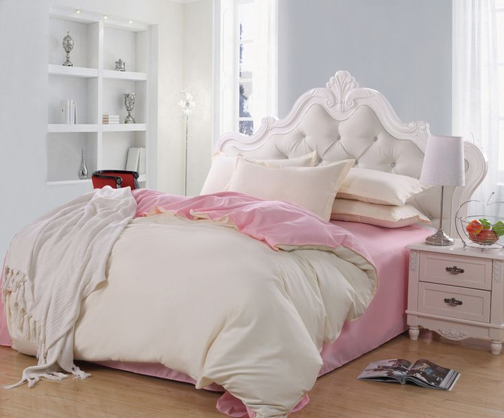 Elegant Girl Bedroom with Queen Size Bed Frame  Tufted White Plain  Headboard Cushion  and. 17 Best ideas about Elegant Girls Bedroom on Pinterest   Girl