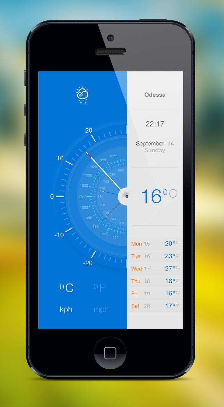 Weather app #mobile #ui