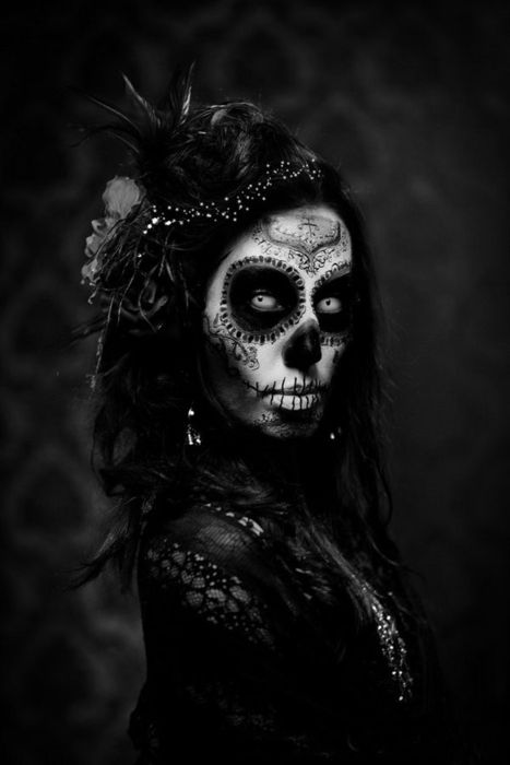 day of the dead skull makeup outfitSugar Skull Art, Sugar Kull, Of The, Mexicans Skull, Parties Ideas, Dead, Day, Face Painting, Halloween Ideas