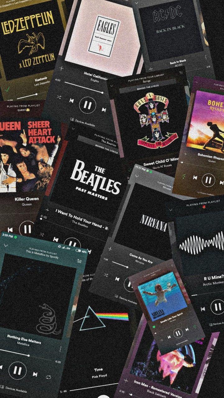 Led Zeppelin Nirvana Acdc Arctic Monkeys Guns Roses Beatles