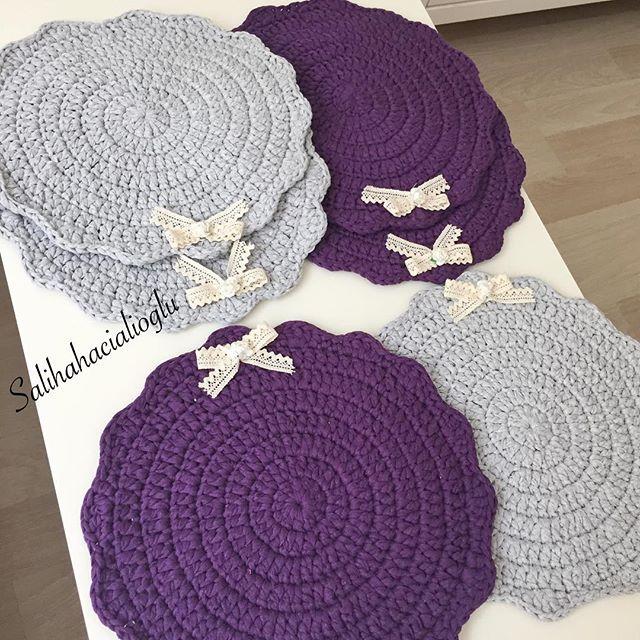 #mulpix Örmeden önce gri ile moru  bukadar güzel duracağından haberim yoktu  Siparis için ❗️ Dm ❗️  #örmeyiseviyorum  #birlikteörelim  #crochet  #crochetlove  #crochetmood  #crochetaddict  #crochetlovers  #kitting  #knitaddict  #kitting  #knitstagram  #knitstagram  #knittingaddict  #kittingramcontest  #knitting_inspiration  #çocukodası   #pink  #gri  #pastel  #vintagehome  #vintagedecor  #vintagehomedecor   #sepet  #penyeip  #spagettiyarn  #örgüamerikanservis  #amerikanservis  #supla  ...