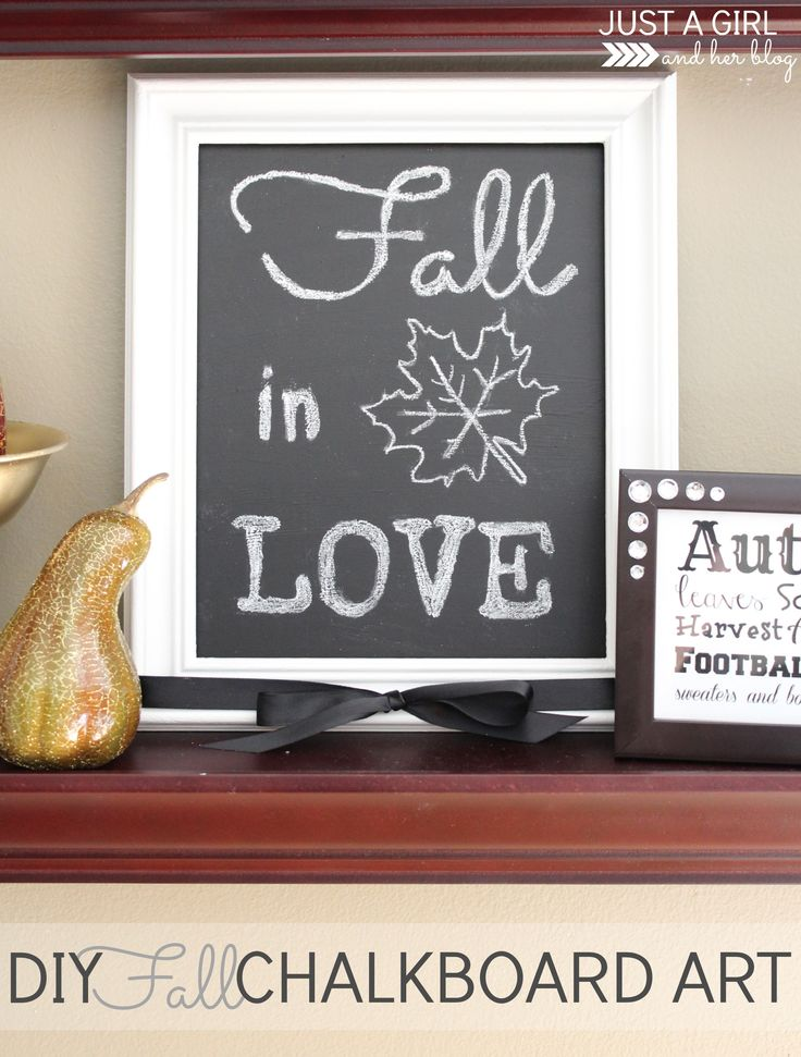 Create this cute chalkboard art-- so simple! | Just a Girl and Her Blog