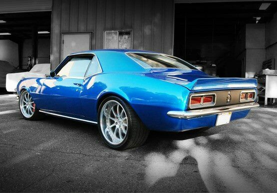 My first car- a blue 68 Camaro. Bought it with my own money that I earned babysitting and working at the Hallmark shop in the Orange Mall. Yes, it even had that cool spoiler and rims!