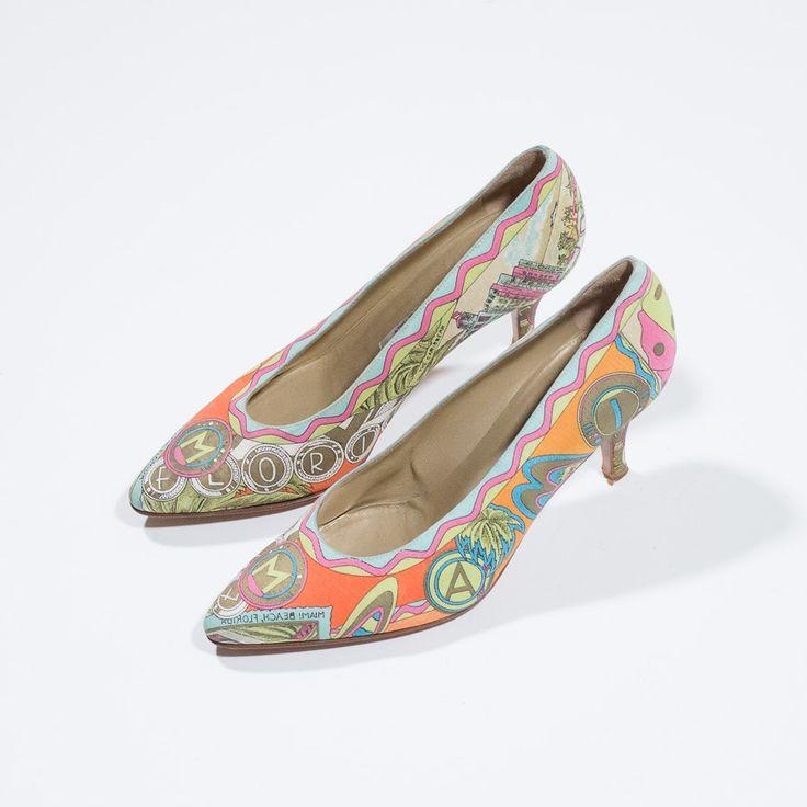 ✦ CLICK TO BUY ✦ SERGIO ROSSI - Multicolor texture decolleté - vintage clothing