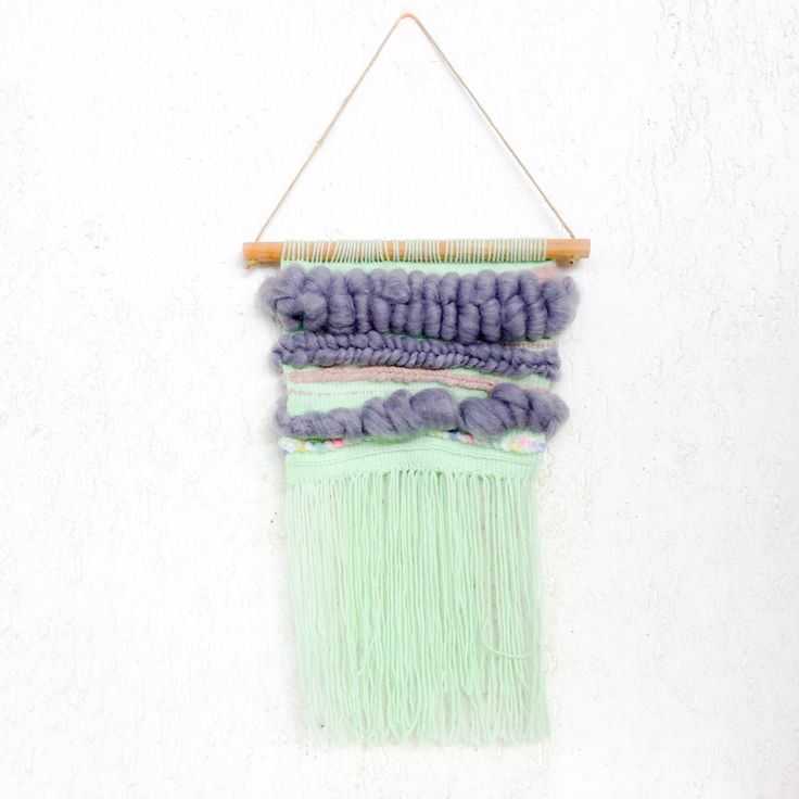 Mint green wall hanging wool roving yarn on sale now!