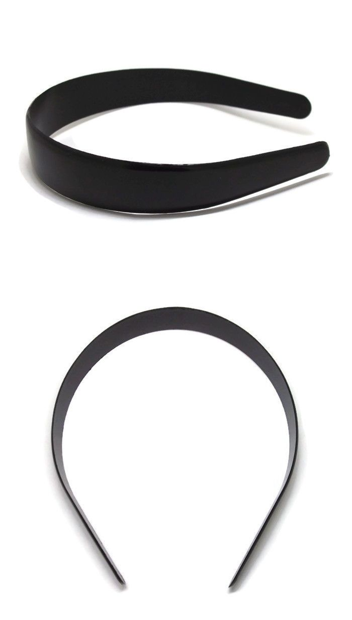 Ribbons and Bows 168077  12 Black Plastic Headbands 25Mm 1 Bulk Unfinished  Head Hair Band Craft Blank -  BUY IT NOW ONLY   10.4 on  eBay  ribbons   black ... 04d13bf5fa0