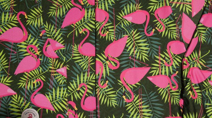 Colorshake flamingo print #details #flamingo #pink #green #colorshake #warsaw