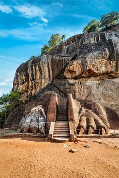 Sigiriya Rock in Sri Lanka. Check out our full guide to this awesome country at https://www.undiscovered.guide/sri-lanka