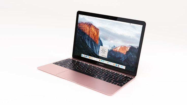 """Desde 3docean llega este espectacular modelo 3D de un notebook Apple MacBook 2016 de 12"""", disponible en cuatro colores y formato .3DS, .OBJ, .BLEND y .FBX."""